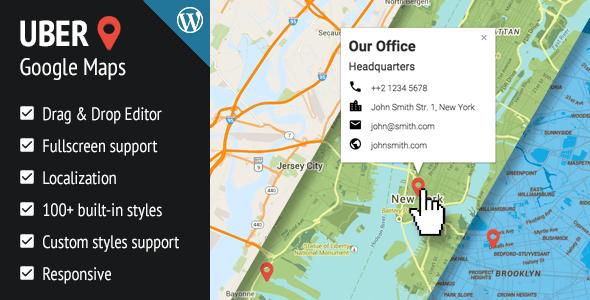 UBER Google Maps v1.0.12 Responsive WordPress Plugin