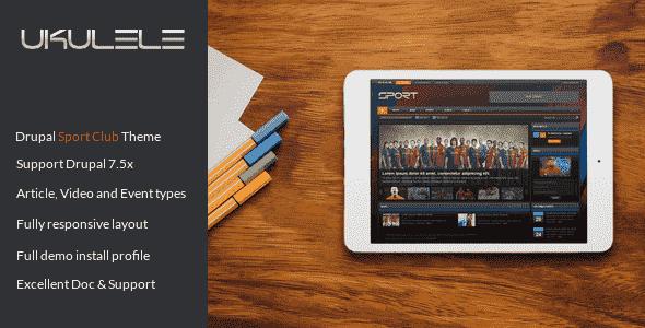 Ukulele v1.0 – Responsive Sport Club Drupal 7 Theme