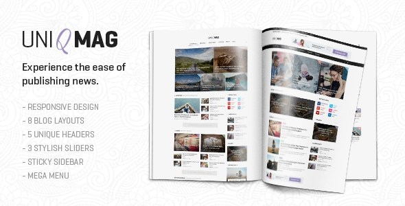 UniqMag – Ease of Publishing News HTML5 Template