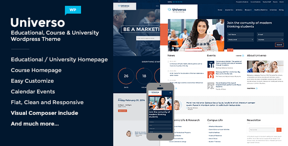 Universo v2.0 – Powerful Education, Courses & Events Theme