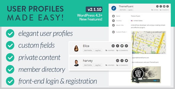 User Profiles Made Easy v2.1.10 – WordPress Plugin