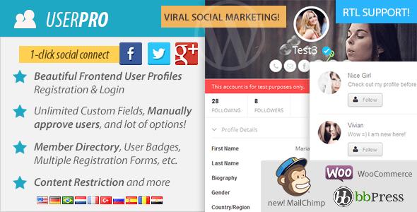UserPro v2.65 – User Profiles with Social Login WP Plugin