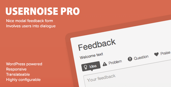 Usernoise Pro v4.1.7 – Modal Feedback & Contact form Plugin