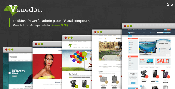 Venedor v2.5.7 – Responsive WordPress + WooCommerce Theme
