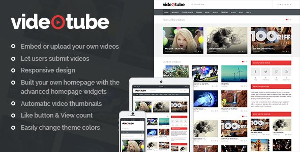 VideoTube v2.2 – A Responsive Video WordPress Theme