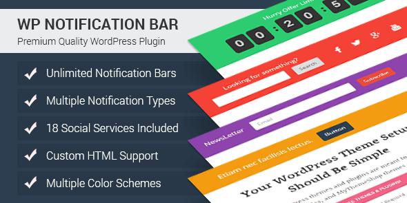 WP Notification Bar Pro v1.1.21 – Notification WordPress Plugin