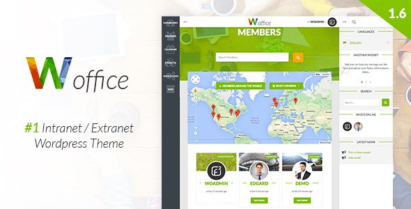 Woffice v1.6.0 – Intranet/Extranet WordPress Theme