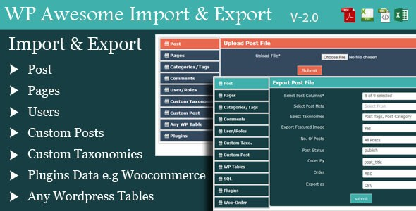Download – WordPress Awesome Import & Export Plugin v2.6