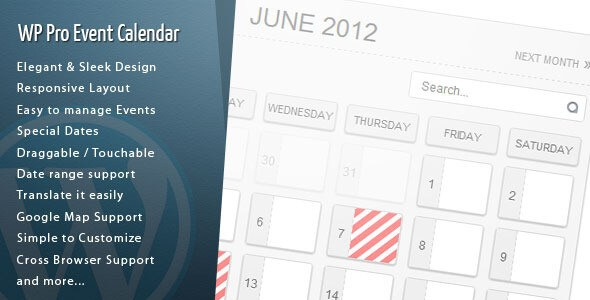 WordPress Pro Event Calendar v2.8.9 Premium WordPress Plugin