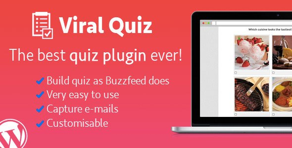 WordPress Viral Quiz v1.94 BuzzFeed Quiz Builder Plugin