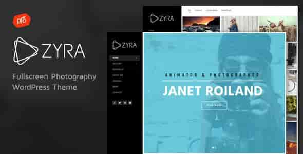 Zyra v2.3 – Fullscreen Photography WordPress Theme