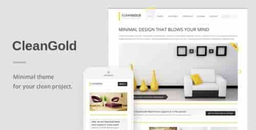 Nulled CleanGold v1.3.3 – A Minimal Responsive WordPress Theme