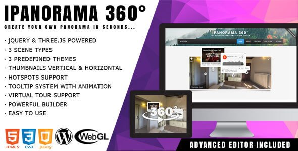 iPanorama 360° – Virtual Tour Builder WordPress Plugin