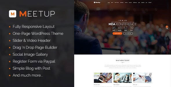 Meetup v1.0 – Conference Event WordPress Theme