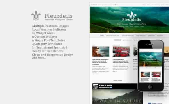 FLEURDELIS - THEMEFOREST MODERN MAGAZINE WP THEME