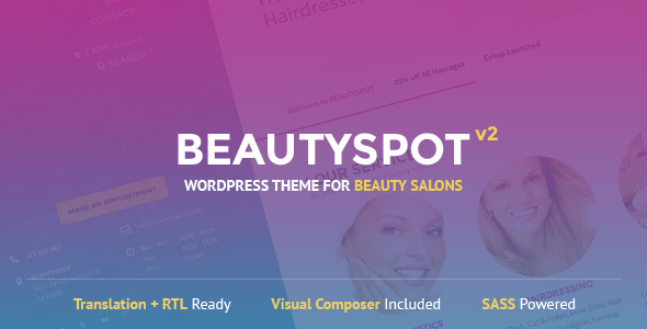 BEAUTYSPOT V2.2.9 - WORDPRESS THEME FOR BEAUTY SALONS