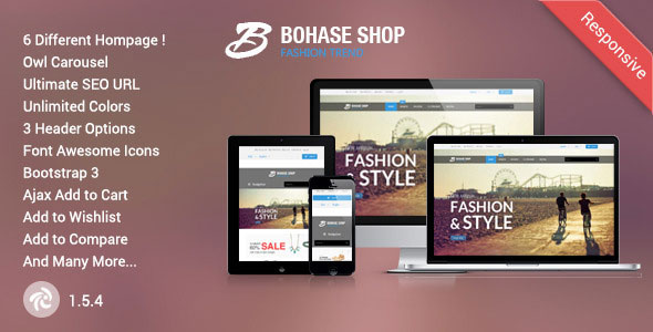 BOHASE - RESPONSIVE ZEN CART THEME