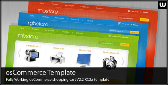 RGBSTORE - OSCOMMERCE SHOPPING CART THEMEFOREST