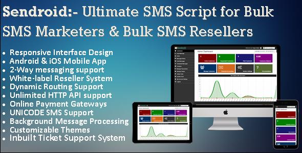 Sendroid v5.0 – Bulk SMS Portal, Marketing & 2-Way Messaging…