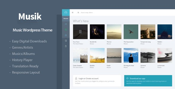 Download – Musik – Responsive Music WordPress Theme