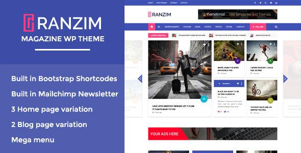 RANZIM V1.0 - RESPONSIVE MAGAZINE WORDPRESS THEME