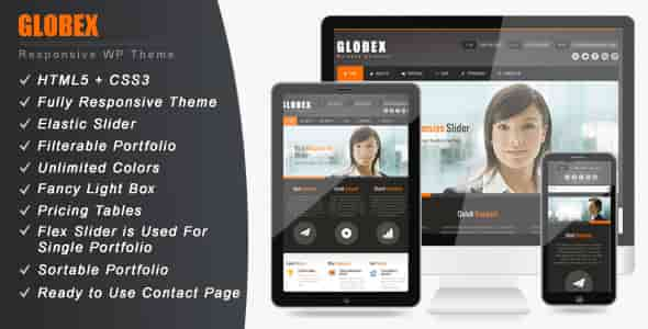 GLOBEX - THEMEFOREST RESPONSIVE BUSINESS WP THEME