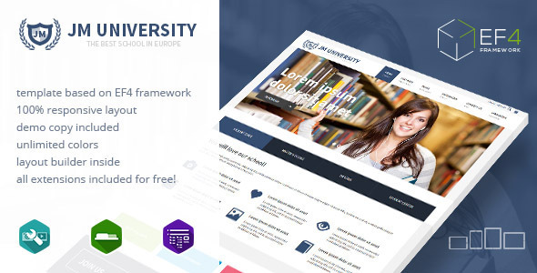JM University v1.1.3 - multipurpose education template